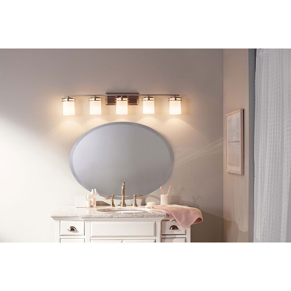 Hendrik Brushed Nickel Five Light Wall Bath Bar, image 2