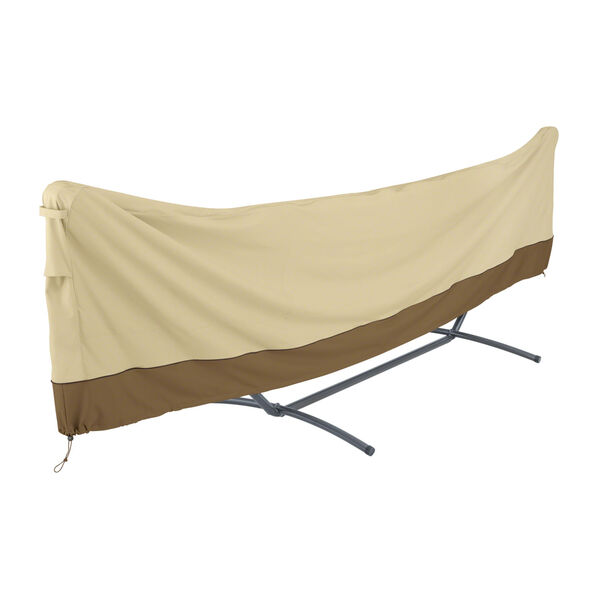 Ash Beige and Brown 15 Foot Standard Brazilian Hammock and Stand Cover, image 1