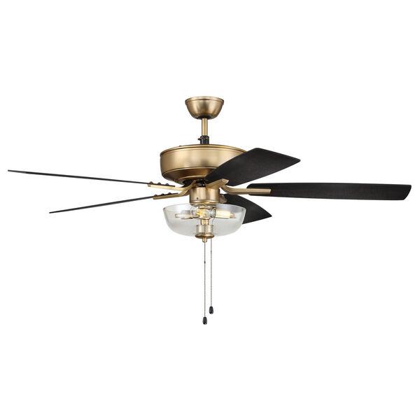 Pro Plus Satin Brass 52-Inch Two-Light Ceiling Fan, image 4