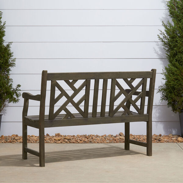 Renaissance Eco-friendly 4-foot Outdoor Hand-scraped Hardwood Garden Bench, image 4
