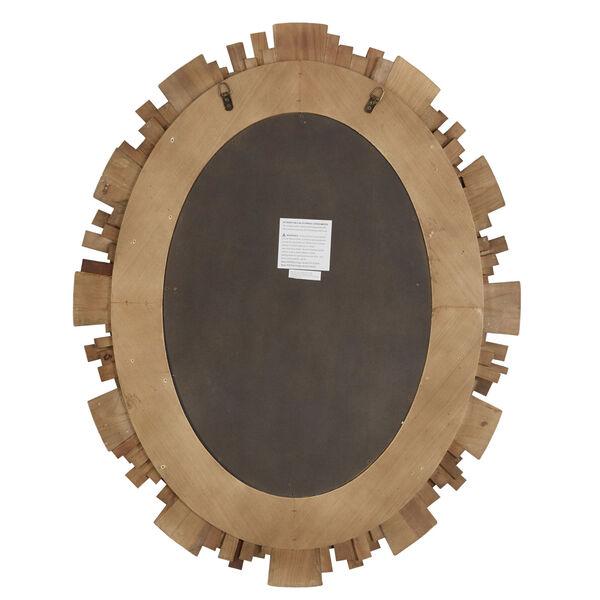 Brigid Reclaimed Wood Oval Sunburst Wall Mirror, image 3