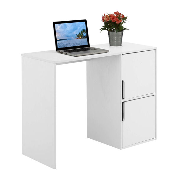 Designs2Go White Student Desk with Storage Cabinets, image 3