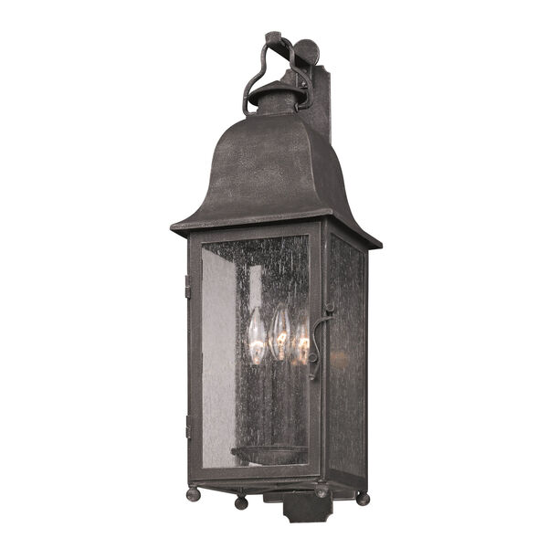 Aged Pewter Larchmont Three-Light Wall Mount, image 1