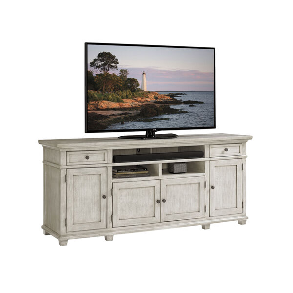 Oyster Bay White Kings Point Large Media Console, image 1