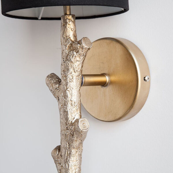 Sabinal II Black and Gold One-Light Wall Sconce, image 3