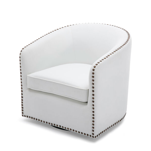 Tyler Milky Swivel Arm Chair, image 1