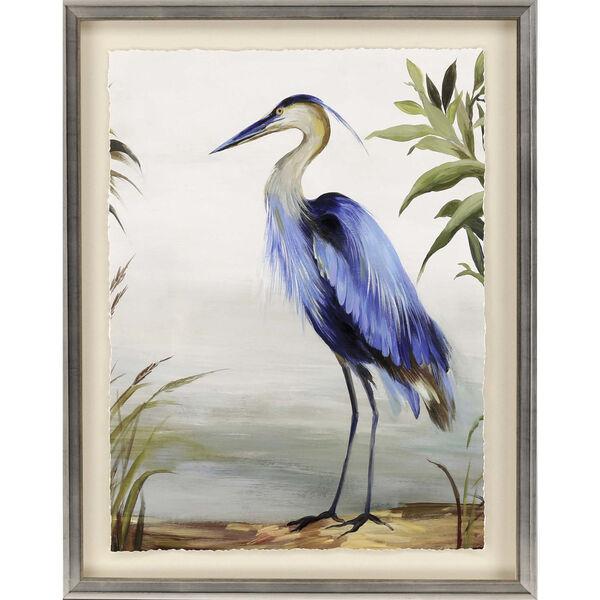 Blue 44 H x 35 W-Inch Blue Heron Wall Art, image 2