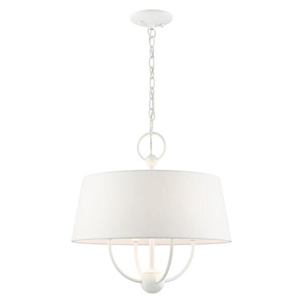 Ridgecrest White Four-Light Chandelier, image 1