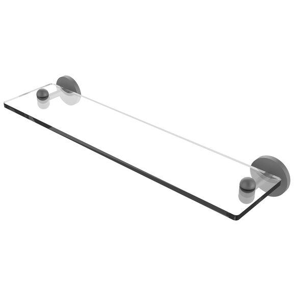 Tango Matte White 22-Inch Glass Vanity Shelf with Beveled Edges, image 1