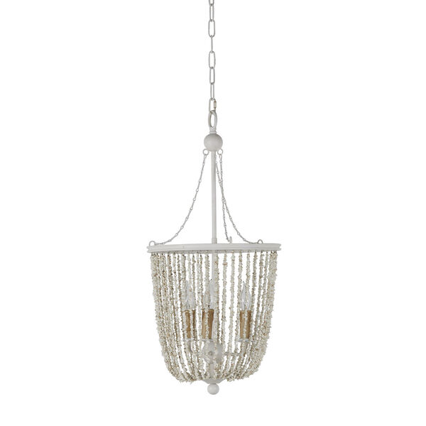Jenny Coral White Chandelier, image 1
