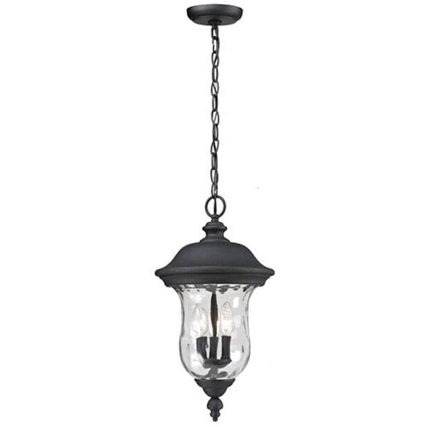 Armstrong Three-Light Black Outdoor Chain Pendant Light, image 1