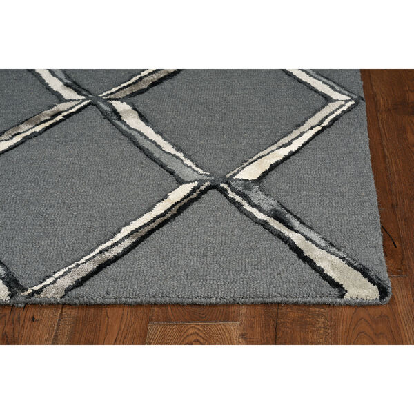 Libby Langdon Upton Charcoal and Silver Rectangular: 8 Ft. x 10 Ft. Rug, image 2