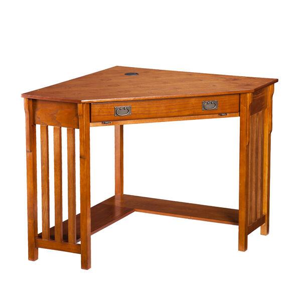 Oak Corner Computer Desk, image 5