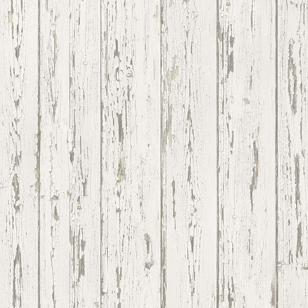 Beige and Antique White Shiplap Wallpaper, image 1