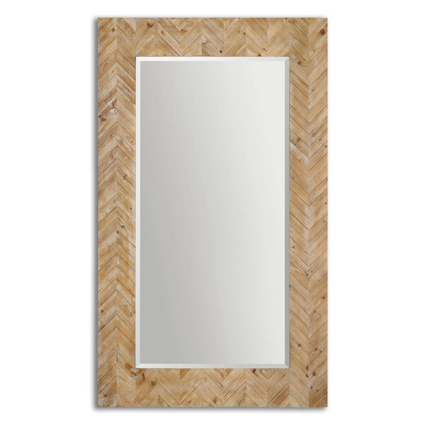 Demetria Solid Wood and Light Gray Oversized Mirror, image 2
