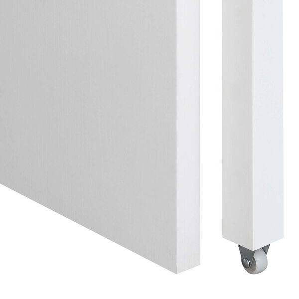 Newport JB White Sliding Desk with Drawer and Riser, image 5