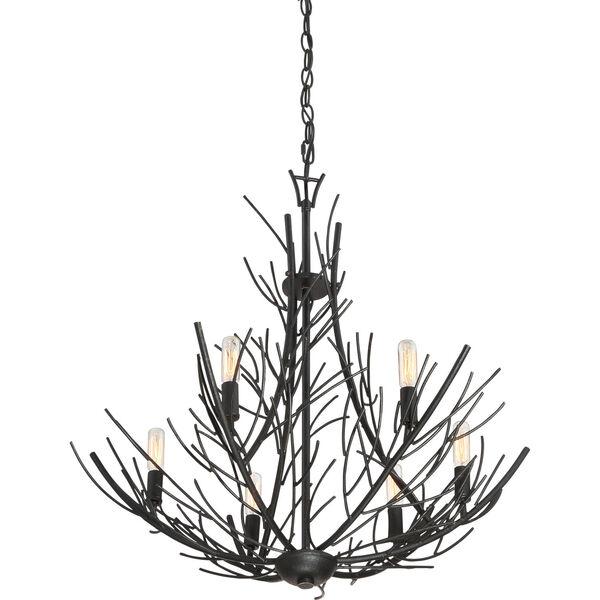 Thornhill Marcado Black Six-Light Pendant, image 3