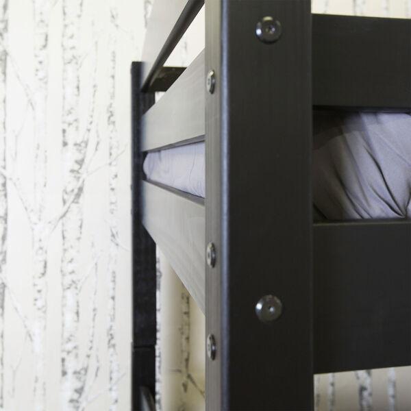 Solid Wood Bunk Bed - Black, image 5