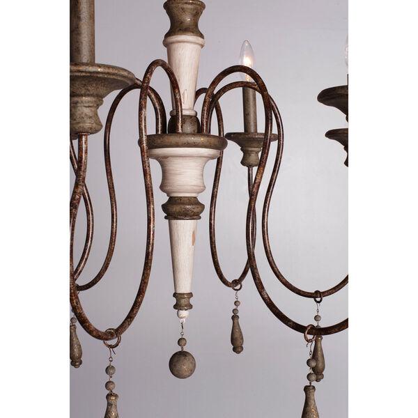 Grace Antiqued Six-Light Chandelier, image 7
