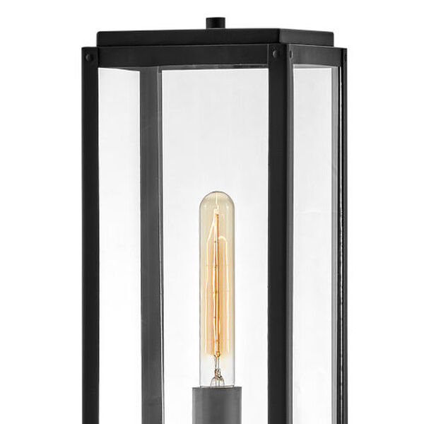 Max Black One-Light Outdoor Post Mount, image 2