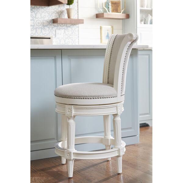 Chapman Alabaster White Counter Height Swivel Barstool - (Open Box), image 2