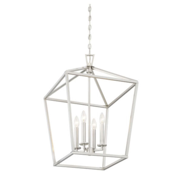 Anna Brushed Nickel 17-Inch Four-Light Pendant, image 4