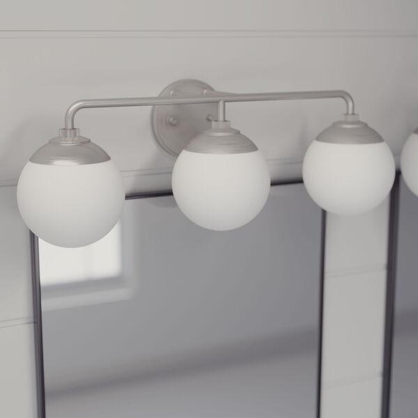 Hepburn Brushed Nickel Three-Light Bath Vanity, image 3