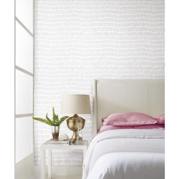 Tick Mark Gray Peel and Stick Wallpaper, image 2