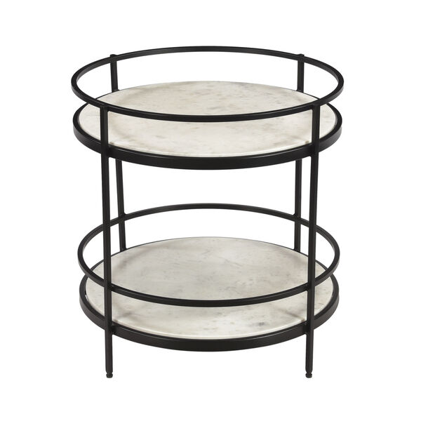 Black and White Round Accent Table, image 3