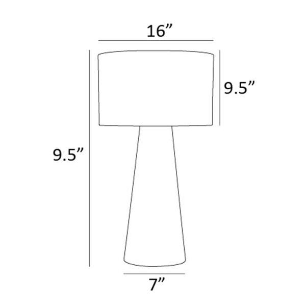 Montebello Light Beige One-Light Table Lamp, image 4