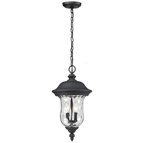 Armstrong Two-Light Black Outdoor Chain Pendant Light, image 1