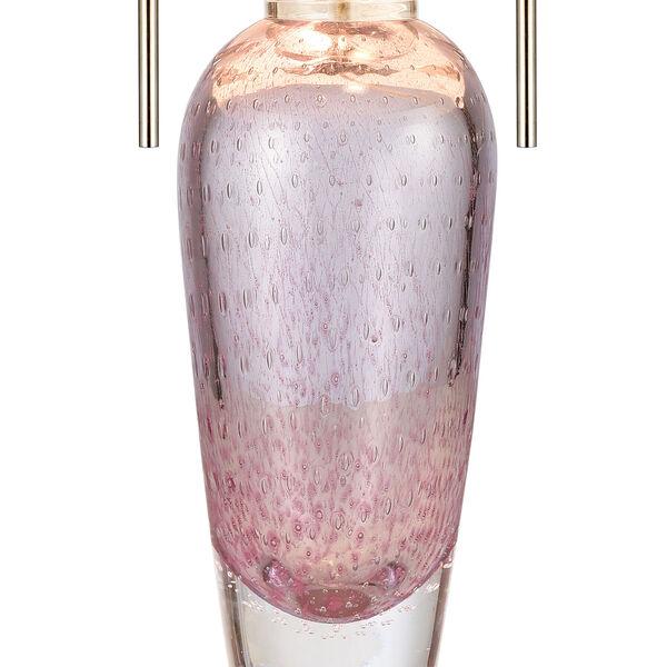 Raegan Pink Art Glass and Polished Nickel One-Light Table Lamp, image 4