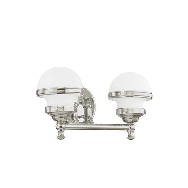 Oldwick Polished Chrome Two-Light 15-Inch Bath Vanity, image 2