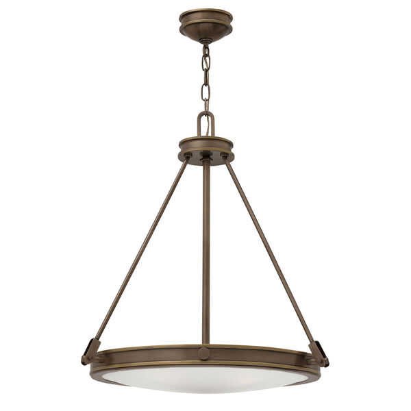 Collier Light Oiled Bronze 22-Inch Four-Light Inverted Pendant, image 1