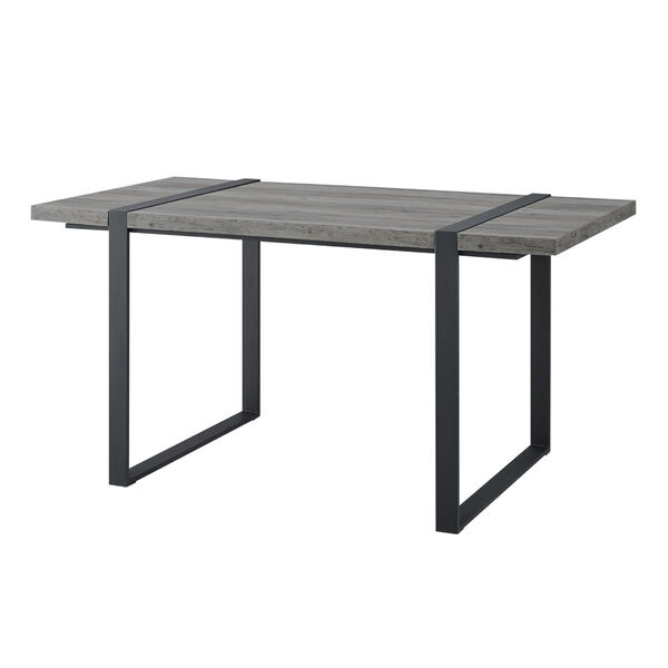 Urban Blend Gray and Black Dining Table, image 2