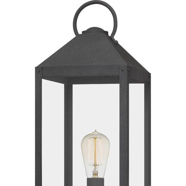 Thorpe Mottled Black One-Light Outdoor Post Mount, image 6