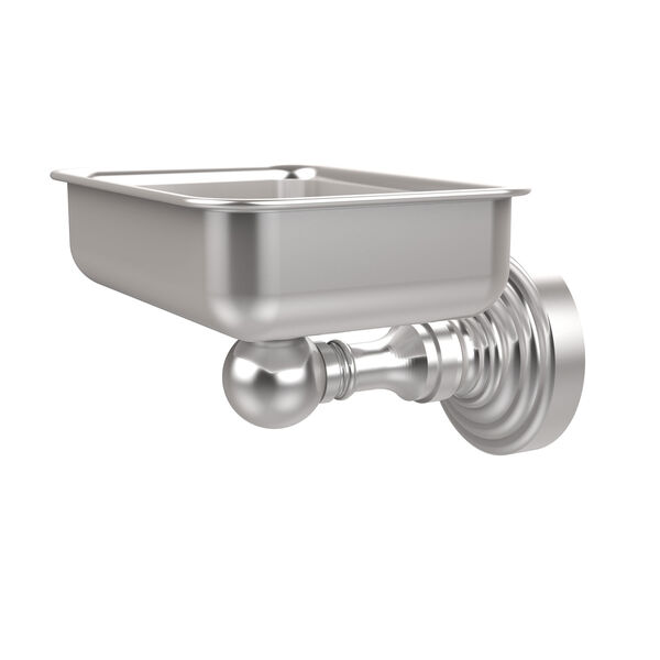 Waverly Place Satin Chrome Soap Dish with Glass Liner, image 1