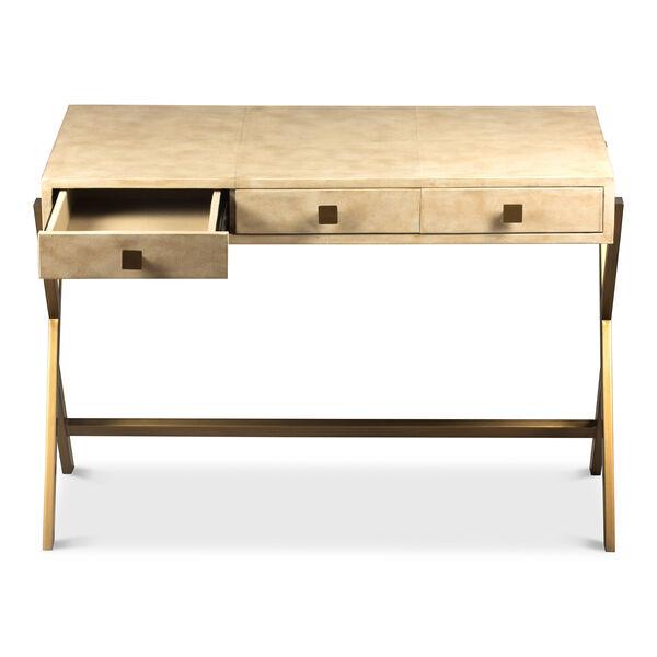 Beige Stuart Leather Desk, image 3