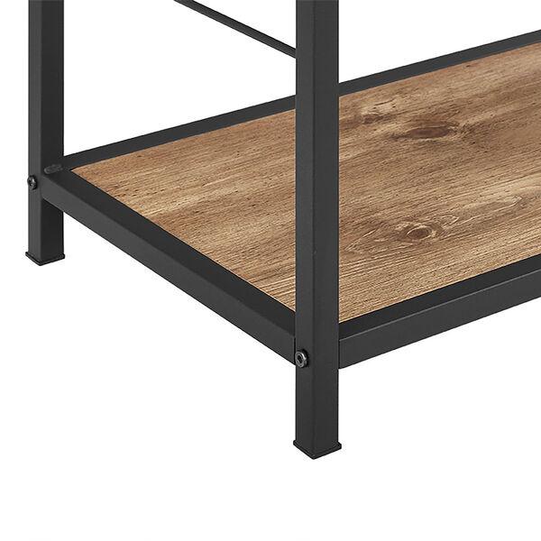 60-inch Rustic Metal and Wood Media Bookshelf - Barnwood, image 4