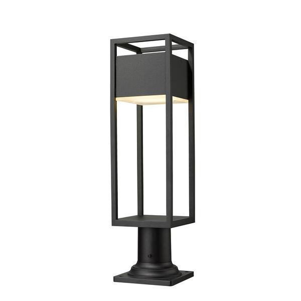 Barwick Black 23-Inch One-Light LED Outdoor Pier Mount, image 1