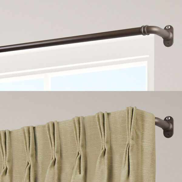 Blackout Antique Brass 28-48 Inch Curtain Rod, image 2