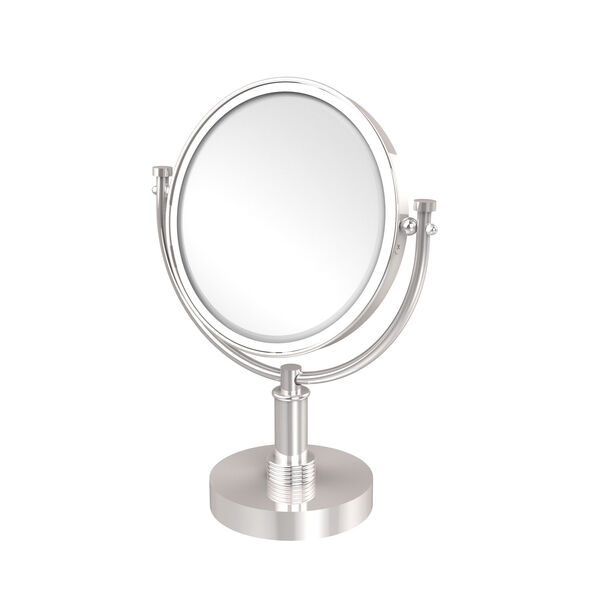 8 Inch Vanity Top Make-Up Mirror 5X Magnification, Polished Chrome, image 1