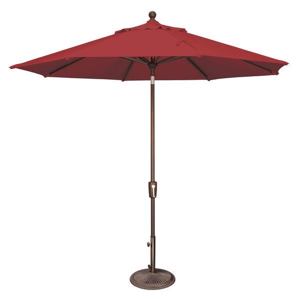 Catalina Really Red 108-Inch Market Umbrella, image 1