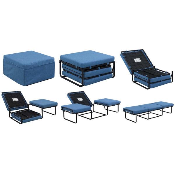 Designs4Comfort Blue Folding Bed Ottoman, image 3