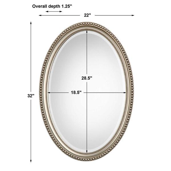 Wellington Silver Oval Mirror, image 1
