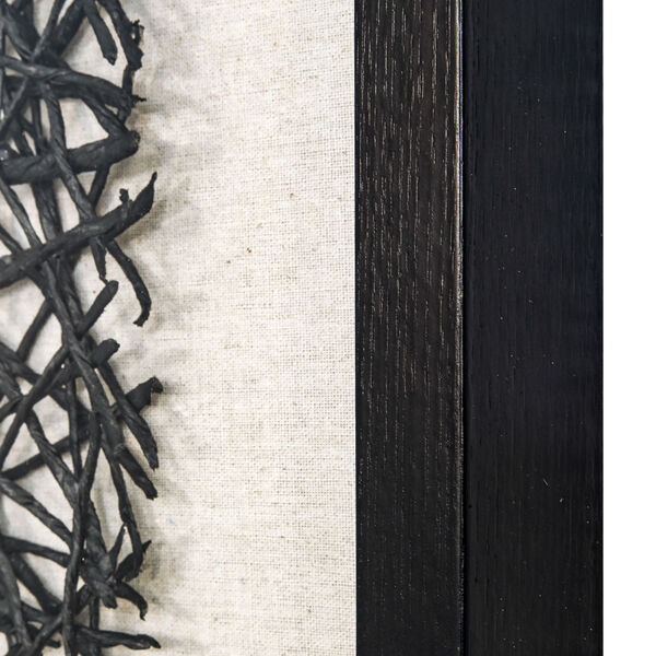 Black and White 32-Inch Thread Lightly Wall Art, image 3