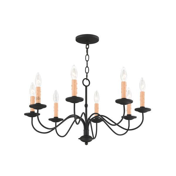 Heritage Black Eight-Light Chandelier, image 4