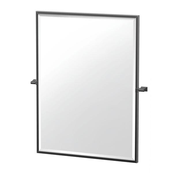 Bleu 32.5-Inch Framed Rectangle Mirror Matte Black, image 1