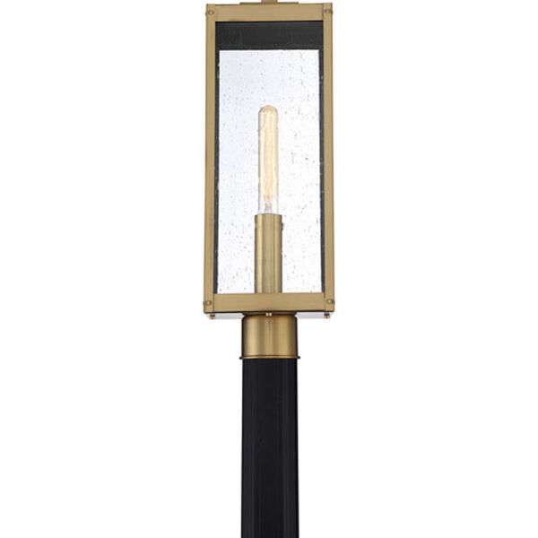 Pax Antique Brass One-Light Outdoor Post Mount with Seedy Glass, image 5