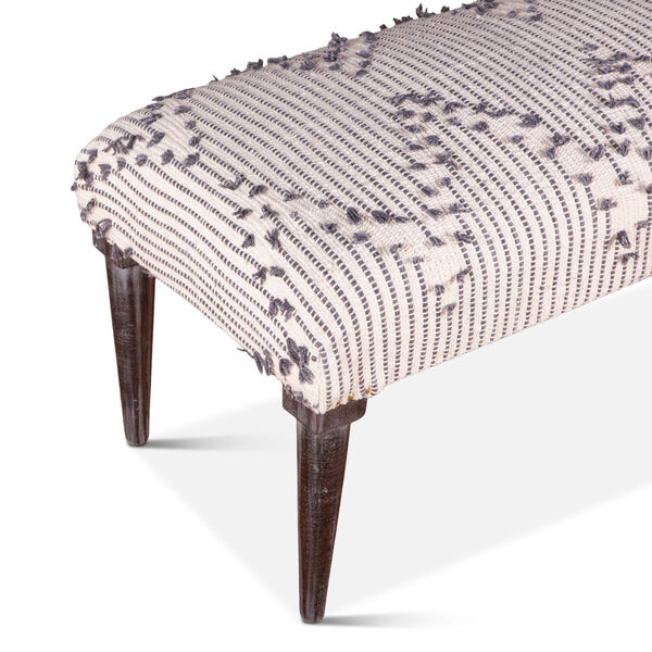 Algiers Off White and Black Accent Bench, image 3